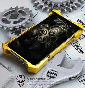 Image 3 - الفاخرة درع معدن الألومنيوم النحاس النقي غطاء الهاتف ل iphone11 برو ماكس حالة الميكانيكية والعتاد بحتة اليدوية الجمجمة الهاتف قذيفة