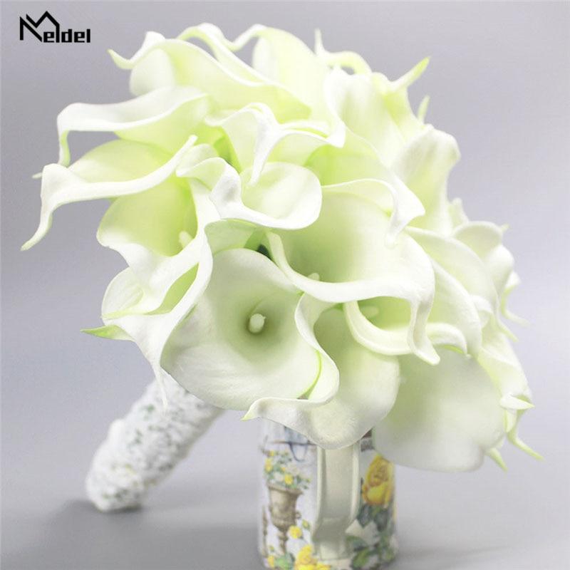 Meldel Wedding Bouquet Calla Lily Artificial Flowers Bridal Bouquets Bridesmaids Bride Marriage Wedding Bouquet Home Decoration