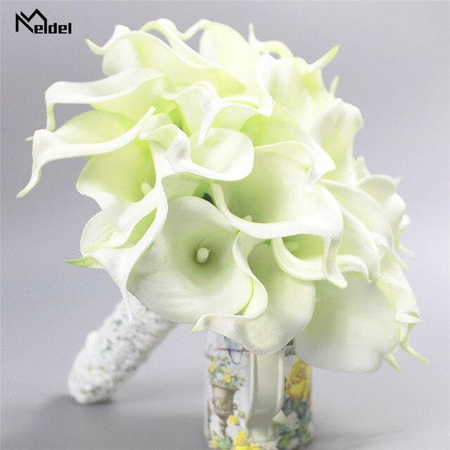 Meldel חתונה זר כלה לילי פרחים מלאכותיים כלה זרי השושבינות הכלה נישואי חתונה זר עיצוב הבית