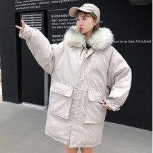 Women fur collar Parkas jacket Winter 2019 Fashion thicken warm winter hooded jacket coat winter parkas outwear jacket