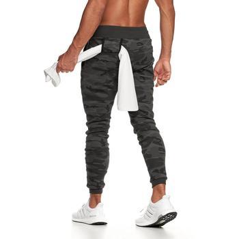 Męskie spodnie joggery Camo mężczyźni odzież sportowa Fitness spodnie Skinny fit jesień bawełniane spodnie casualowe na szlak spodnie dresowe dla joggerów mężczyzn tanie i dobre opinie CN (pochodzenie) Na co dzień Sznurek Mieszkanie Pełnej długości COTTON REGULAR NONE sweatpants men Midweight Suknem