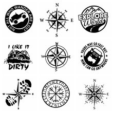 10 видов стилей компас и приключения дизайн автомобилей узор