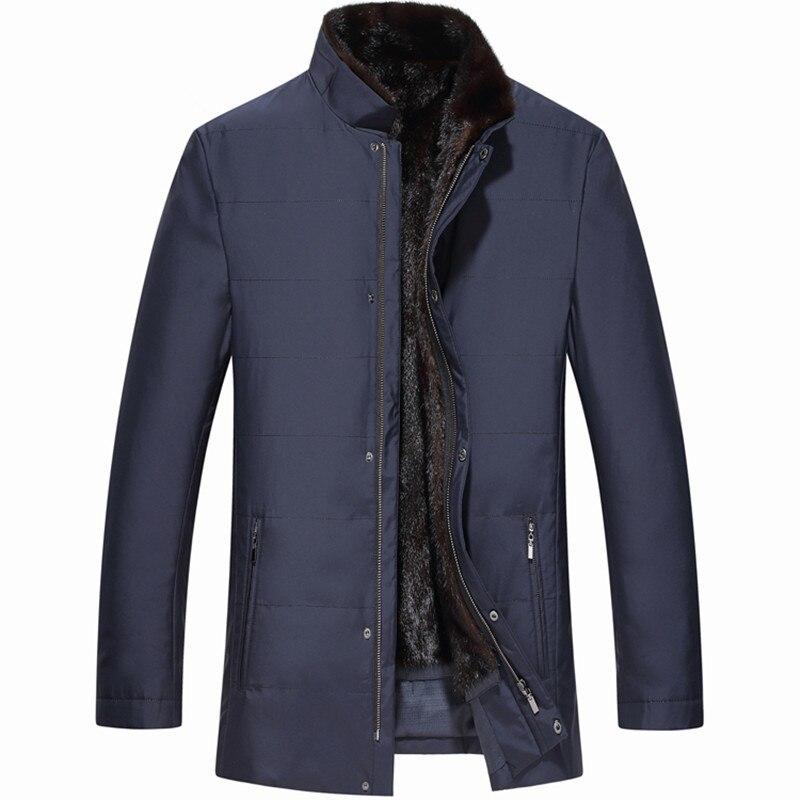 Reaal Fur Coat Men Real Mink Fur Coat Korean Winter Jacket Men Plus Size Real Fur Parka For Mens Clothes 2020 Casaco 83177 YY907