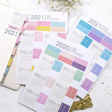 Pegatina de calendario s Kawaii, adhesivo de papelería, planificador, pegatina de Agenda, pegatina de calendario organizador de pegatinas, suministros escolares y de oficina, 2021