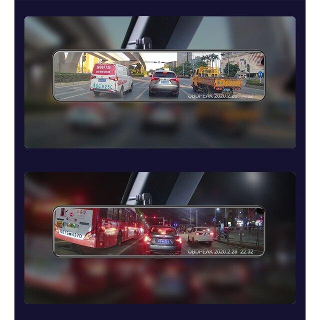 "OBEPEAK 12"" IPS Car DVR Rearview Mirror RAM 4G + ROM 32G Android 8.1 Wifi 3 Split Screen ADAS Dual Dash Cam Car Video Recorder 3"