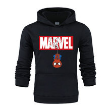 Autumn Winter MARVEL Hoodies Spiderman Men Hoodie Sweatshirts Tops Casual New Male Tracksuit The Avengers Brand Pullovers(China)