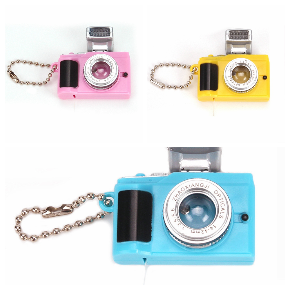 Mini 2.5*4cm Pink Blue Yellow Camera Toy Doll Accessories Kid Toys For BJD 1/6 Doll Accessories  Fashion Key Chains Toys Gift
