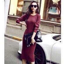 Sexy Bodycon Long Sweater Dress Women Autumn Long Sleeve Korean Fashion Black Slim Elegant Pullover Winter Knitted Dresses 2019