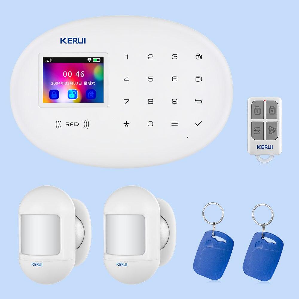 Burglar Alarm KERUI W20 Safety Protection Mini Motion Sensor Wireless Connection Intelligent GSM Alarm Systems Security Home