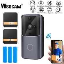 Wsdcam WIFI Doorbell Video Door Intercom 720P HD Wireless Smart Home IP Door Bel
