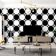 PVC black and white wallpaper modern simple Nordic style home decor bedroom decor wallpaper sticker bedroom living room  office haokhome modern heavy texture loft pvc wallpaper iron blue black silver home living room bedroom office bar wall decoration