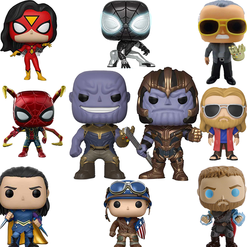 FUNKO POP Marvel Avengers Iron Man Captain America Vinyl Action Figures Collection Model Original Birthday Brinquedos Toys 2F60