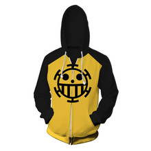 Fans Wear 3d Printed One Piece Sweatshirt Trafalgar Law Cosplay Hooded Sweatshirts Men Hoodie Jacket