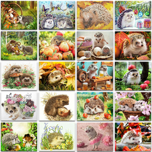5D DIY Diamond Painting Kit Paint Cute Hedgehog Flower butterfly Full Square&Round embroidery mosaic Cross stitch home decor Art