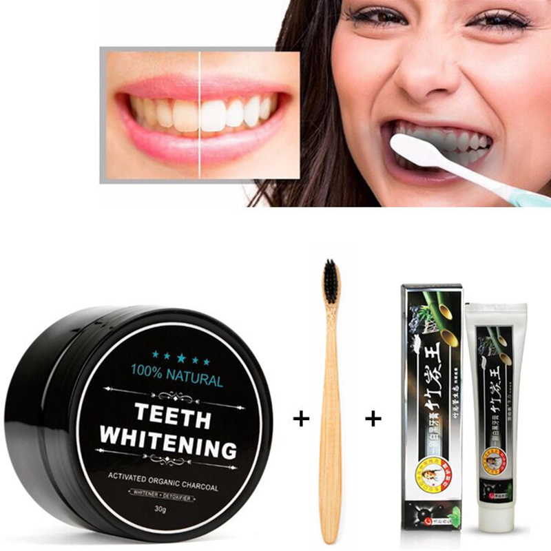 Natural Organic Activated Teeth Whitening Charcoal Powder Bamboo Charcoal Toothpaste