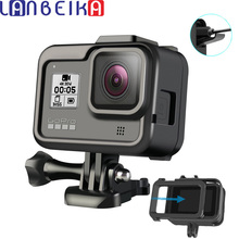LANBEIKA for Gopro Hero 8 Frame Case Border Protective Cover Housing Mount Base for Go pro Hero8 Gopro8 protection Accessory