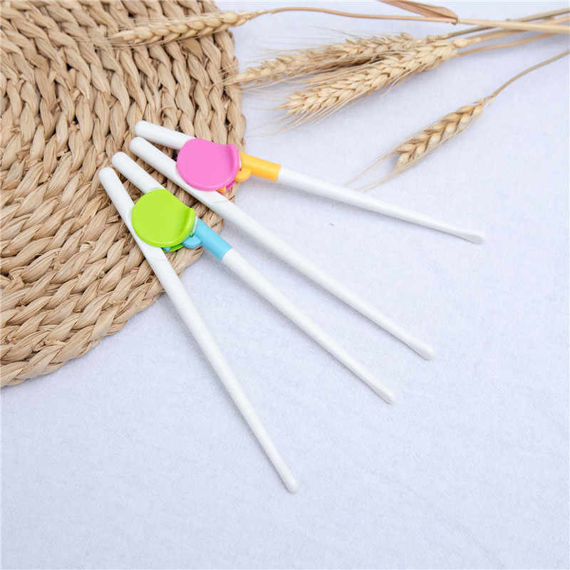 Fashion Kids Training Chopsticks Children 1 Pair Adult Children Helper Cheater Toy Learning Reuseable