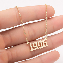 SMJEL Special Date Year Number Necklace for Women 1989 1990 1996 1997 1999 from 1980 to 2020 Collare