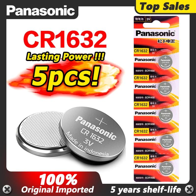 5 шт. высокое качество Cr1632 CR 1632 3 в кнопочный аккумулятор компьютер часы монета автомобиль игрушка 2020 Новый BR1632 ECR1632 DL1632 литиевая батарея