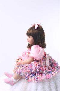 """Image 5 - 24 """"silikon yeniden doğmuş bebek bebek oyuncak bebekler 60cm prenses kız gibi canlı Bebe kızlar Brinquedos sınırlı koleksiyon doğum günü hediyesi"""
