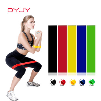 DYJY Elastic Resistance Bands Yoga Gym Fitness TPE Pull Up Assist Rubber Band for Crossfit Exercise Training Workout Equipment gym fitness resistance bands for yoga stretch pull up assist bands crossfit exercise training workout equipment rubber bands