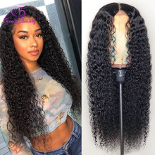 Brazilian Kinky Curly 4x4 Lace Closure Human Hair Wig 13x4 Lace Front Wig Trendy Beauty Remy 180 Human Hair Lace Front Wigs