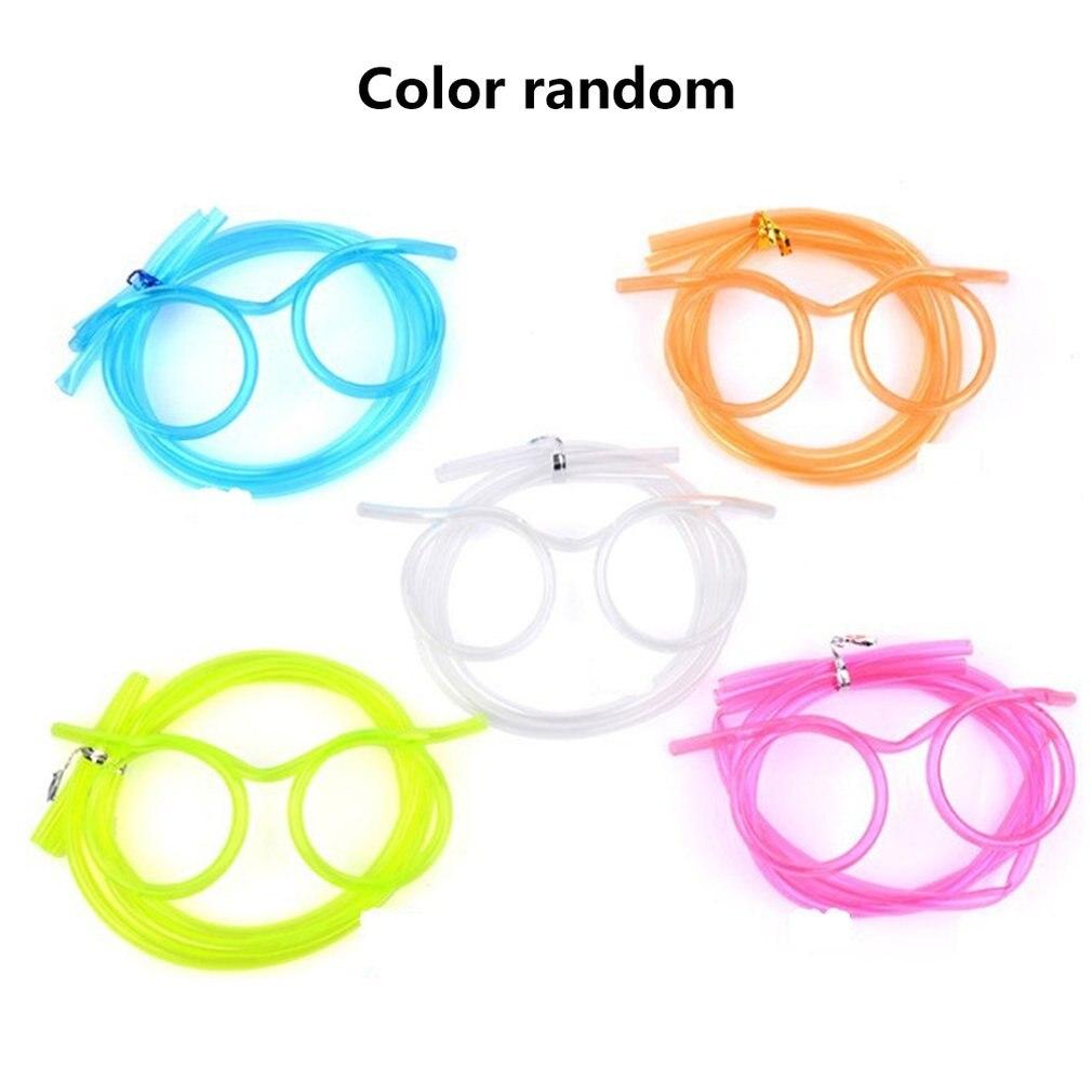 Diversão criativa Óculos Palhas Louco Engraçado Arte Wj10014 Funny Party Palhas Palhas Canudinhos de Plástico