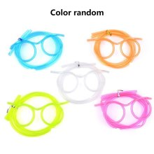 Creative Fun Glasses Straws Crazy Funny Art Party Plastic Drinking Wj10014