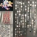 1 шт./Настенная подвесная Светоотражающая круглая гирлянда, длинная цепочка на день рождения, баннер для свадебной вечеринки, ручная работа,...