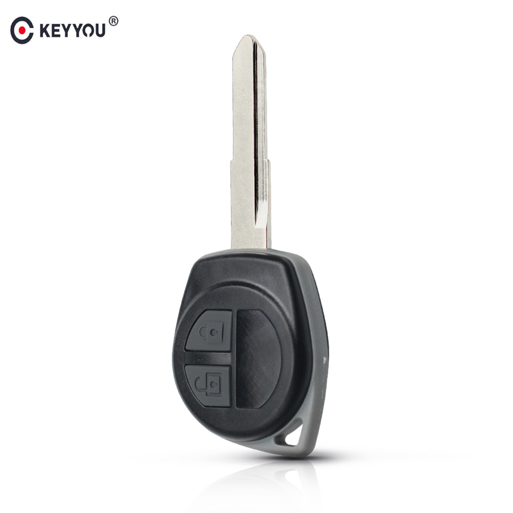 KEYYOU 2 кнопки чехол для дистанционного ключа от машины FOB корпус FOB для Suzuki grand vitara SWIFT HU133R лезвие резиновый кнопочный коврик