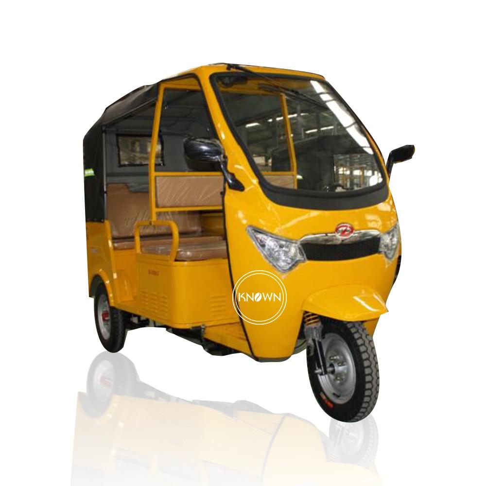 Three Wheels Electric Cargo Bike Passenger Car 4-5 Person Tuk Tuk For Sale
