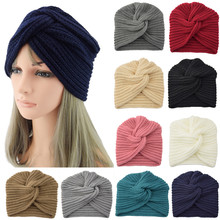 Осенне-зимняя теплая вязаная шапка, твердый Центральный крест, женские шарфы для волос, повязка на голову, шпильки с орнаментом, повязка на голову, аксессуары для волос