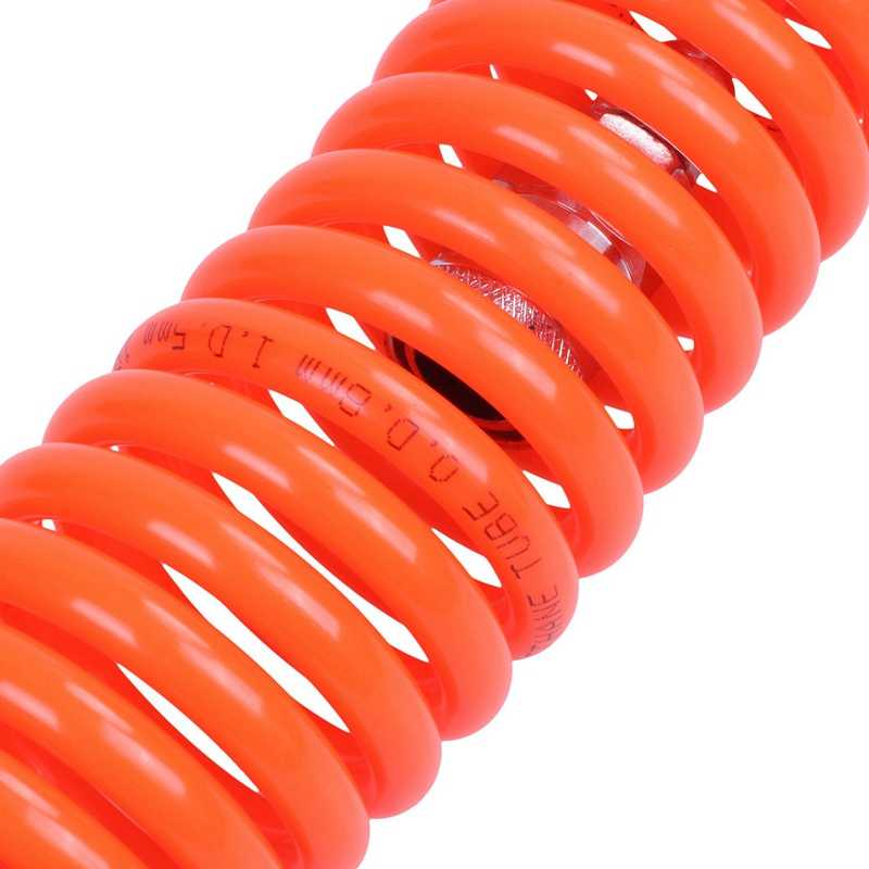 12 Metros de 8 mm de largo x 5 mm de poliuretano en espiral de la manguera de aire Tubo de naranja