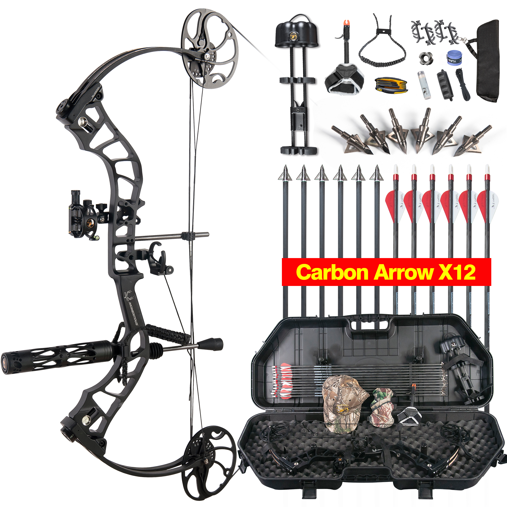 Adjustable Compound Bow Full Package, USA Gordon Composites Limb Archery 1