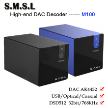 цена на SMSL M100 Pure Digital DAC Audio Amplifier Decoder AK4452 Hifi DSD512 USB DAC Amp Optical Coaxial Input 32bit/768kHz