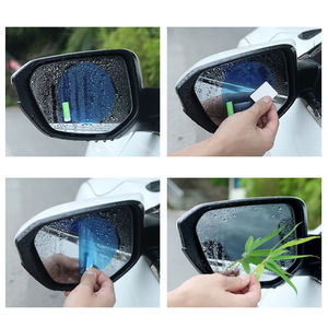 Image 4 - 2PCS/Set Anti Fog Car Mirror Window Clear Film Anti glare Car Rearview Mirror Protective Film Waterproof Rainproof Car Sticker