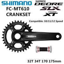 Bộ Chuyển Động SHIMANO DEORE SLX FC MT610 Crankset M6000 10/11/12 Tốc Độ Crankset BB52 32T 34T 170MM 175MM M610 Crankset