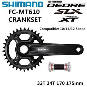 Image 1 - SHIMANO DEORE SLX FC MT610 Crankset M6000 10/11/12 Speed Crankset BB52 32T 34T 170MM 175MM M610 Crankset