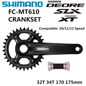 Image 1 - SHIMANO DEORE SLX FC MT610 mechanizm korbowy M6000 10/11/12 Speed mechanizm korbowy BB52 32T 34T 170MM 175MM M610 mechanizm korbowy