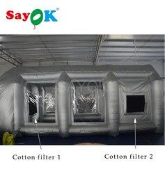 Baumwolle Filter Fit für 6x 3x 2,5 m/20x10x8ft Aufblasbare Spray Lackierkabine