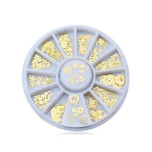 Get more info on the Nail Art Jewelry 120pcs Christmas Series Gold Sticker Nail Sticker Decorative Turntable