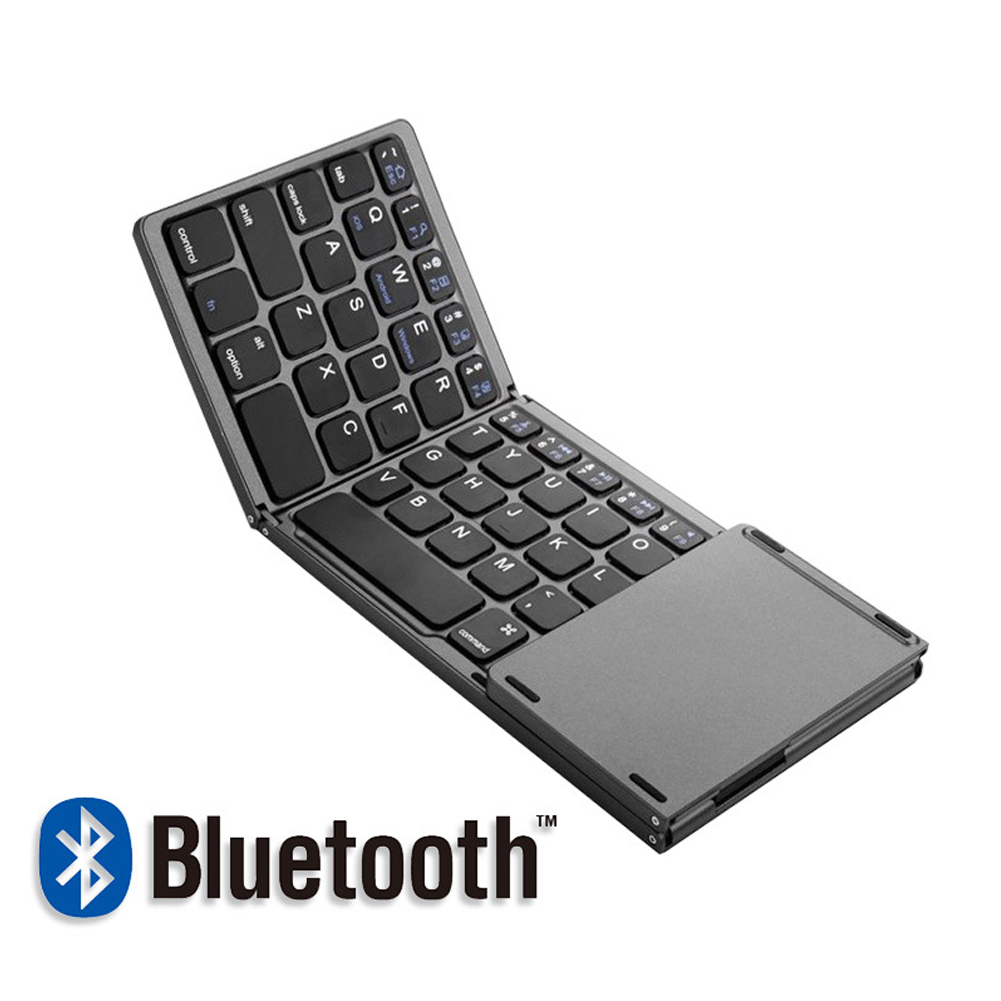 Mini Touch 3.0 Bluetooth Keyboard For IPad Samsung Dex Win iOS Android System ABS Touchpad With Mouse Tri Fold Keyboard|Keyboards| |  - title=
