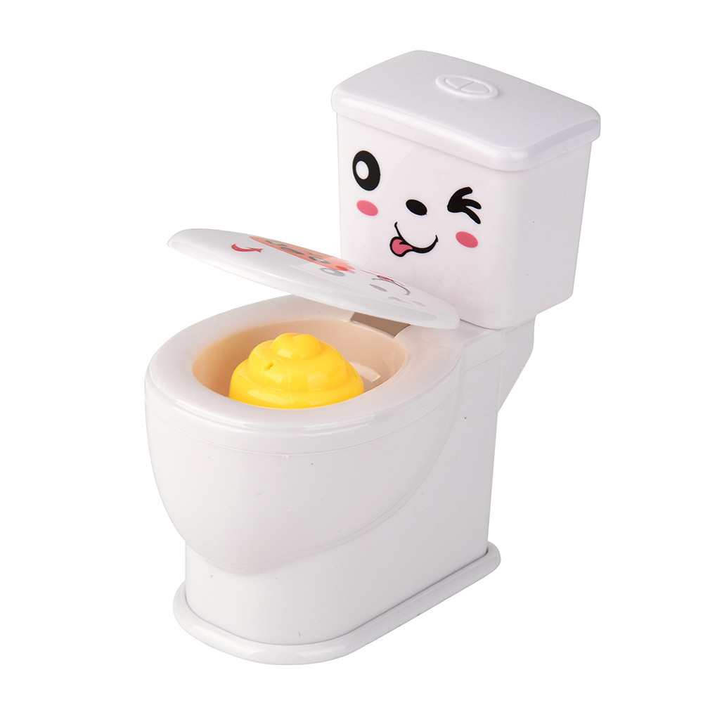Mini Funny Prank Squirt Spray Water Toilet Closestool Joke Gag Toy Desktop Gift