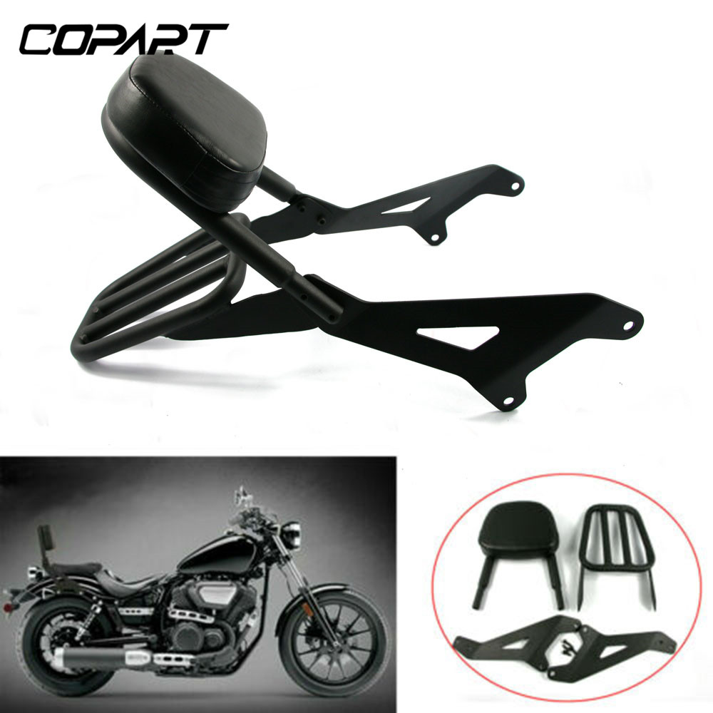 Motorcycle Detachable Backrest Rear Sissy Bar With Pad Luggage Rack For <font><b>Yamaha</b></font> V Star Bolt <font><b>XVS950</b></font> XV950 2013 2014 2015 2016 2017 image