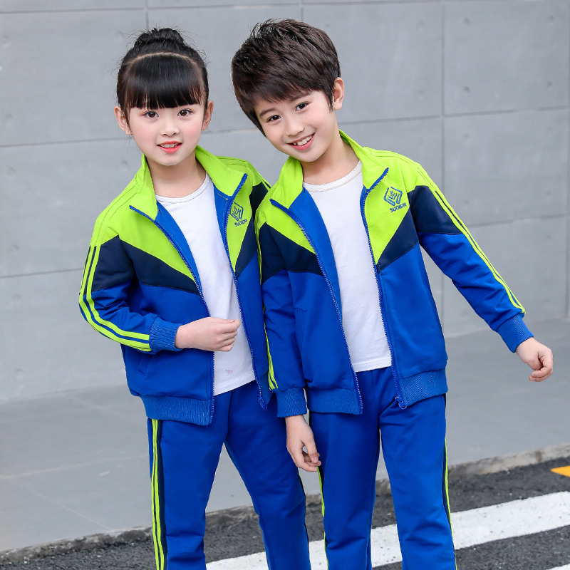 School Uniform 2019 Autumn & Winter New Style Young STUDENT'S Set Kindergarten Suit Games Class Meeting Business Attire Two-Piec