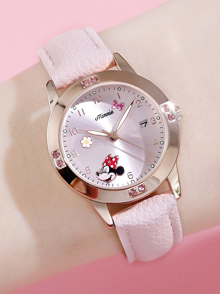 Child Watch Jewelry Mouse-Calendar Kids Clock Cuties-Girl Minnie Ladies Luxury Gift Fashion