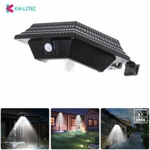 KHLITEC 12 Led Солнечный желоб светильник с датчиком движения, уличный светильник, настенная лампа для дома, сада, забор, ночной Светильник