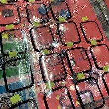 5 pçs/lote vidro dianteiro para apple assistir série 1 2 3 4 5 6 tela frontal exterior lente de vidro painel danificado s4 40mm 44mm substituição