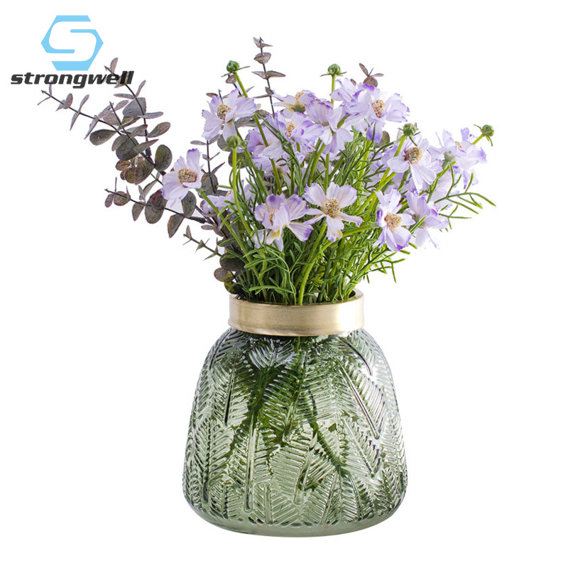 Vase en verre de conception nordique strong well décoration de la maison Vase de fleur de Terrarium plantes vertes Vase de mariage de table hydroponique