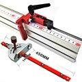 Aluminium Winkel Gehrung Gauge Sägen Montage Herrscher Holzbearbeitung Werkzeug 400mm Alluminium Zaun mit Metrischen Skala für Kreissäge Router